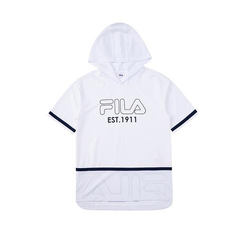 FILA KIDS 吸排連帽上衣-白色 5TEV-4440-WT