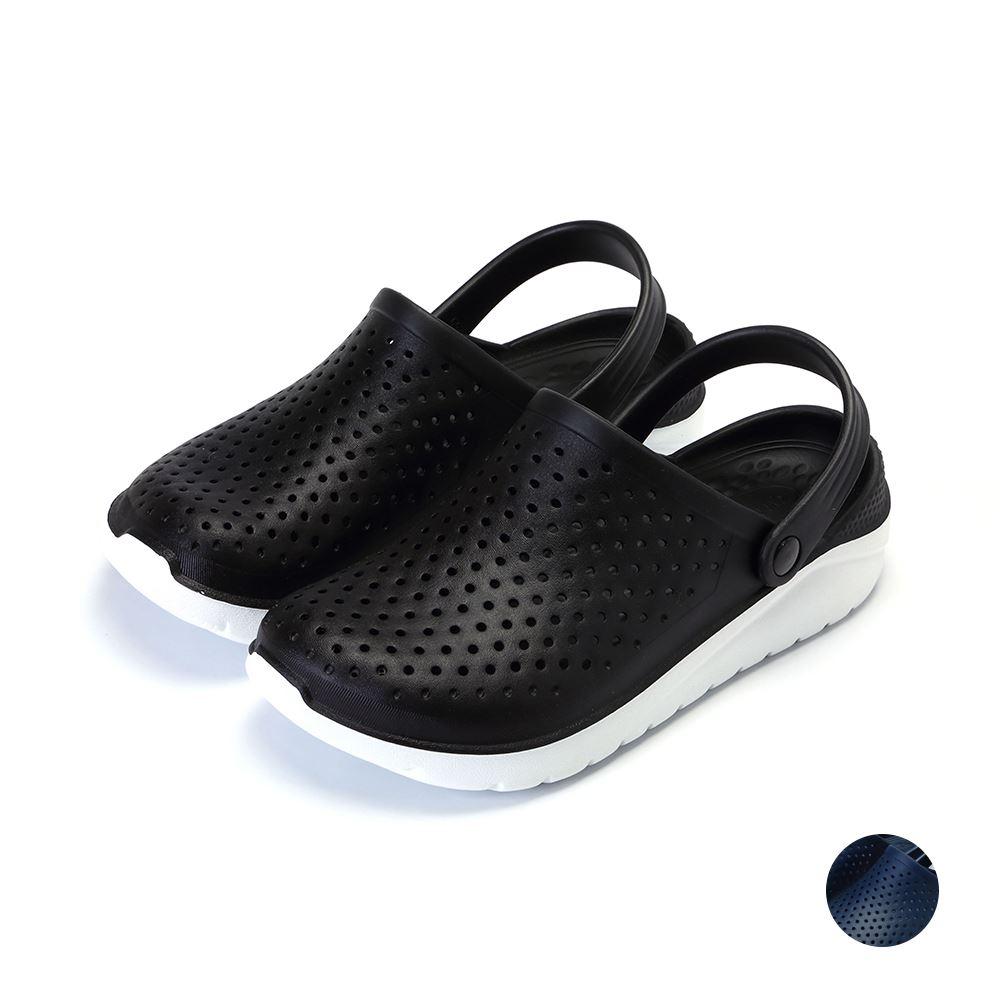 ARRIBA艾樂跑男鞋-雙色輕量防水涼鞋-黑/藍(61512)