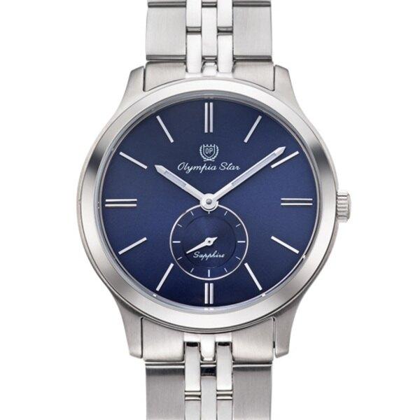 Olympia Star奧林比亞之星小秒設計超薄對錶-藍 58088MS