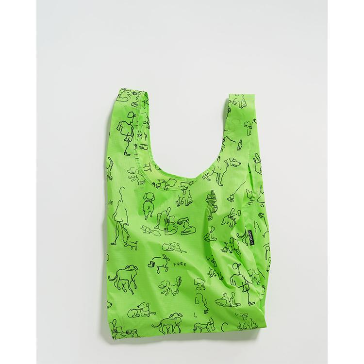《BAGGU》口袋購物袋(M)-滿版狗狗