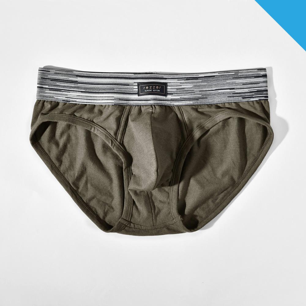 ▶低腰◀三角褲- 光速旅行 暗綠【彈性棉】