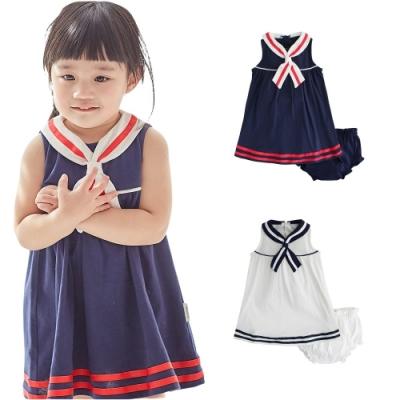 Baby童衣 女寶寶海軍風連衣裙花苞小褲套裝 20011