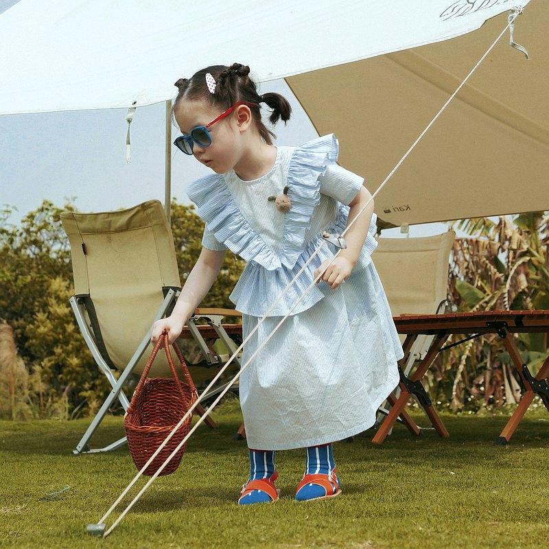 藍白條紋小洋裝 童裝 - imakokoni kids