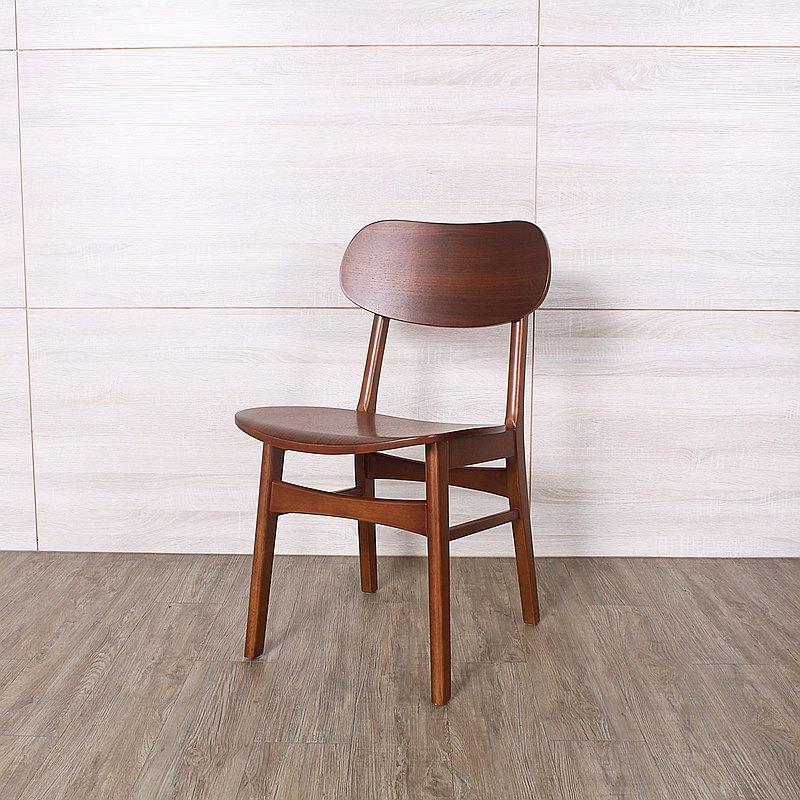 北歐復古 曲木實木 特殊坐墊餐椅 0023