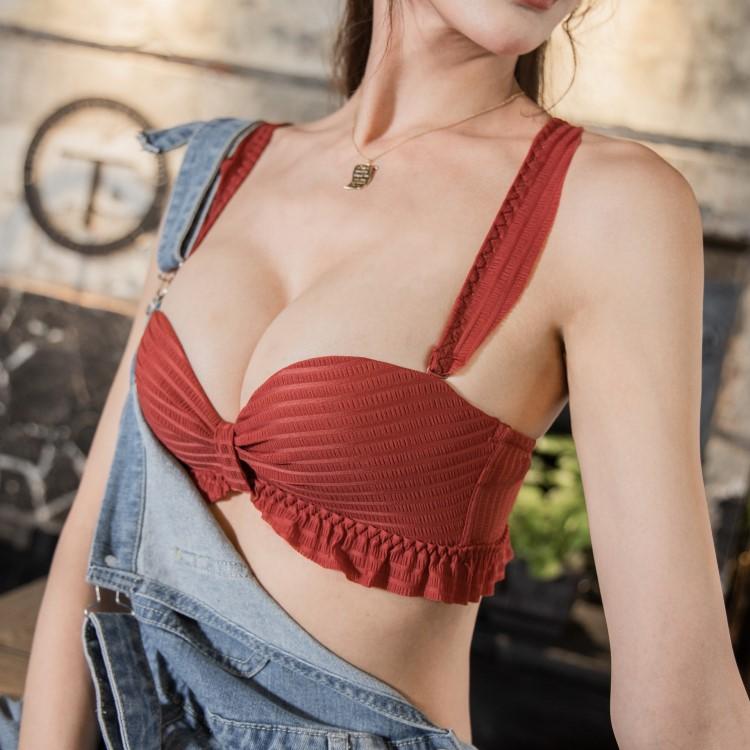 莫蘭迪女王‧無鋼圈集中爆乳內衣(紅) nanamagic 內衣推薦 ✨