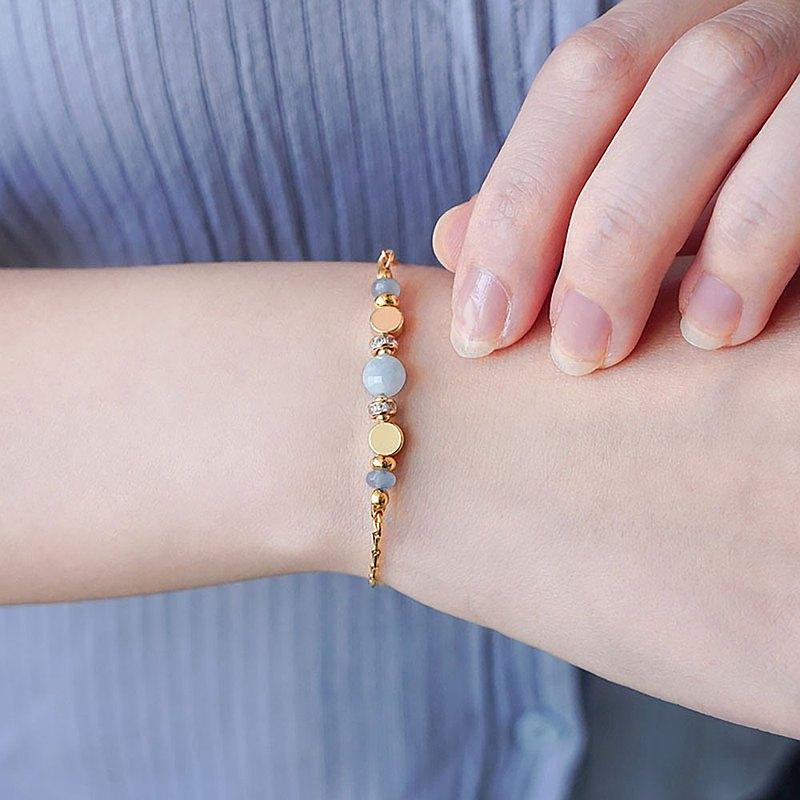 【Ficelle妃紗輕珠寶】星軌共舞 – 海藍寶 – 手鍊