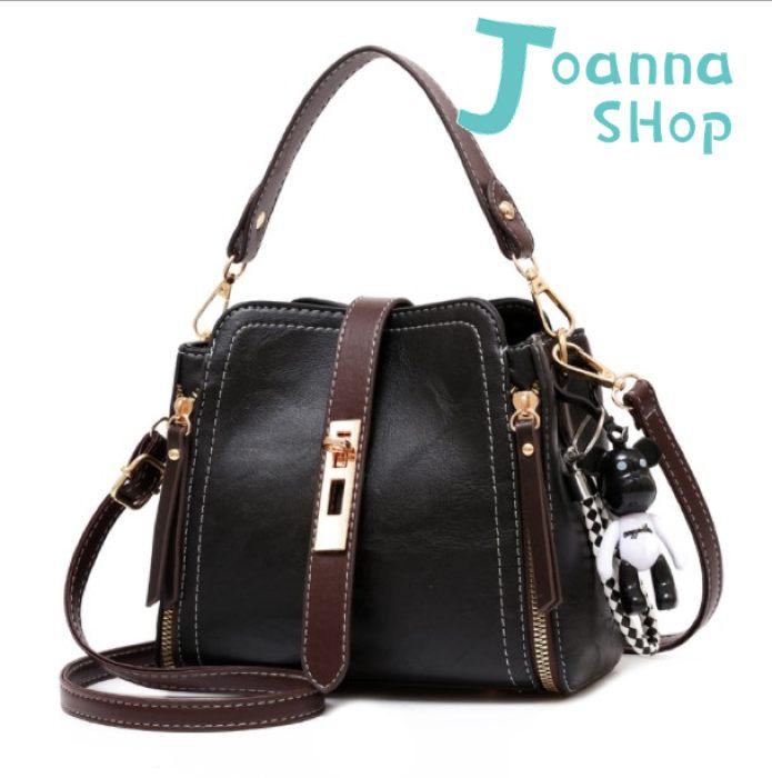 經典小熊吊飾明星都愛時尚休閒手提斜背包3-Joanna Shop