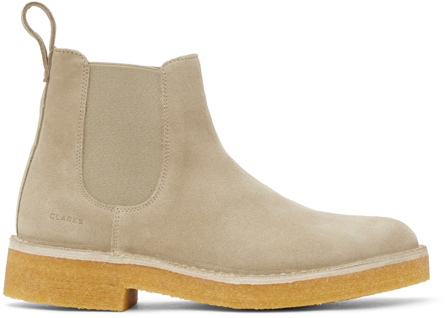 Clarks Originals 米色 Desert 2 切尔西靴