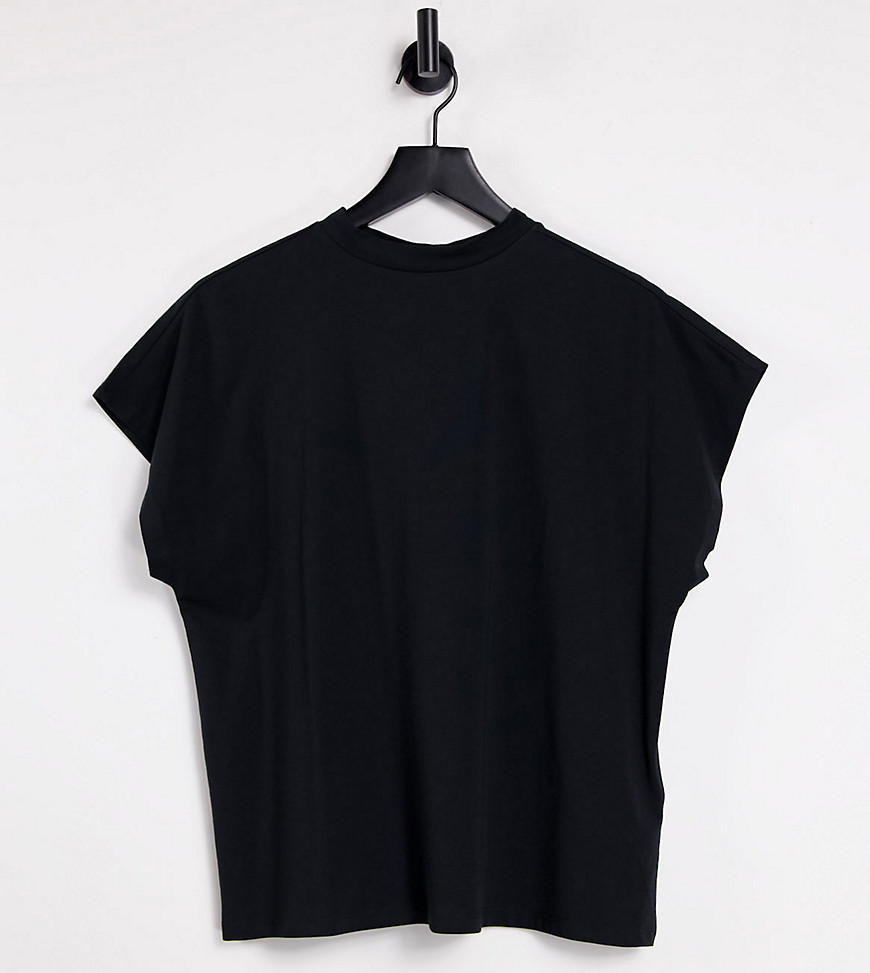 Noisy May Tall high neck t-shirt in black
