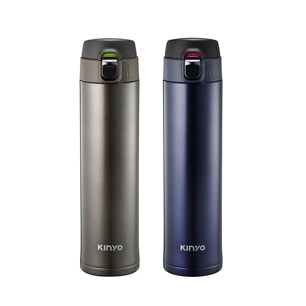 【KINYO】304不鏽鋼大容量保溫杯 520ml (KIM-32)