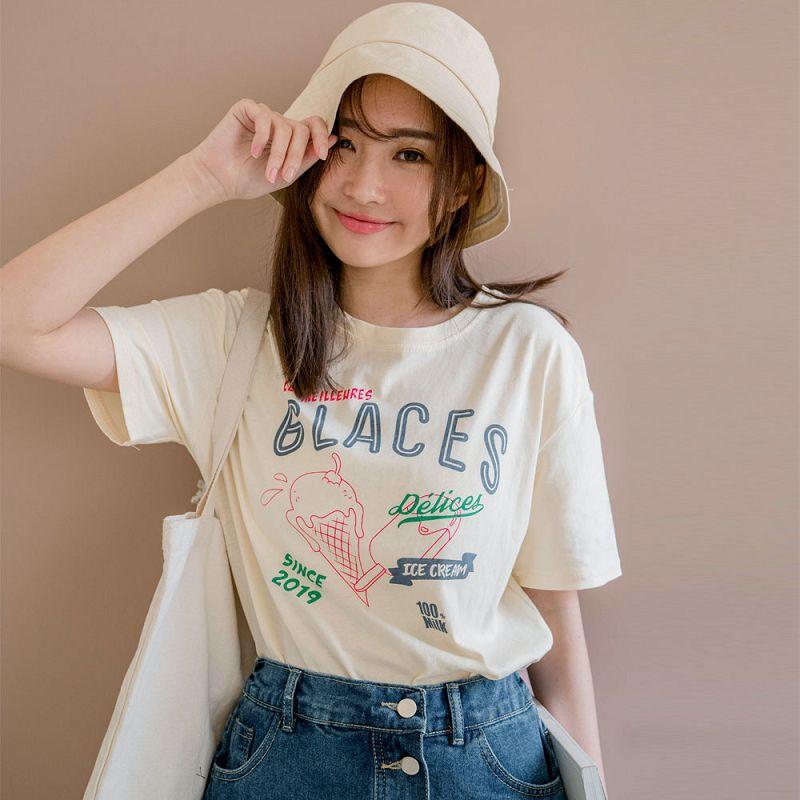 ★8折★GLACES櫻桃冰淇淋棉質上衣(共2色)0323 預購【NJ0752】
