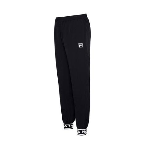 FILA #NEWTRO MANIA 平織束口長褲-黑色 1PNV-1444-BK