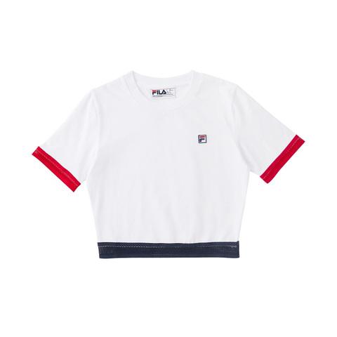 FILA 短袖T恤-白色 5TEV-1814-WT