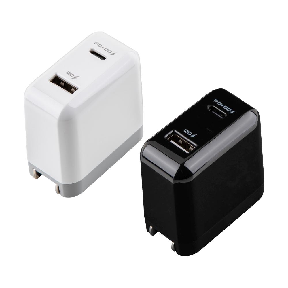 HANG PD+QC雙孔快速充電器 iPhone快充 20.5W大輸出 全兼容各廠快充 旅充頭 Type-C充電頭 USB-C 旅充頭用品