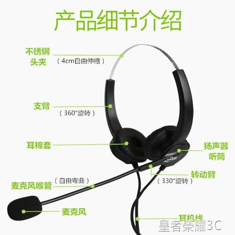電話耳麥 A100D雙耳電話耳麥客服 話務員耳機 思科AVAYA話機耳機 2021新款