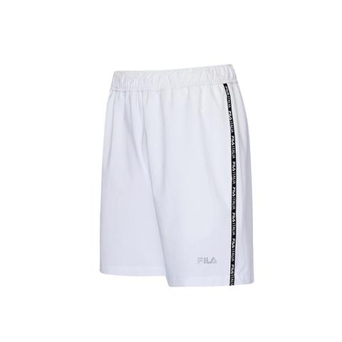 FILA 平織短褲-白 1SHV-1309-WT