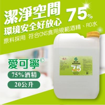 愛可寧 專業用75%清潔酒精20 L(公升)大容量補充