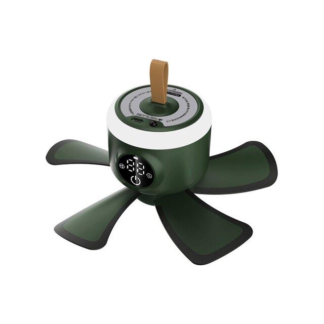 【現貨】充電式小吊扇USB床上掛蚊帳學生宿舍靜音大風力戶外帳篷露營帶燈