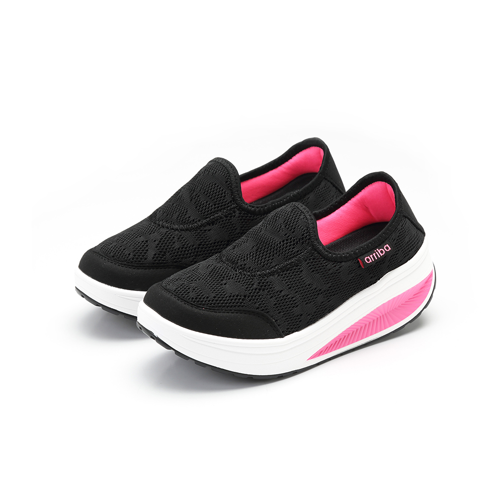 ARRIBA艾樂跑女鞋-厚底懶人鞋-黑(FA550)