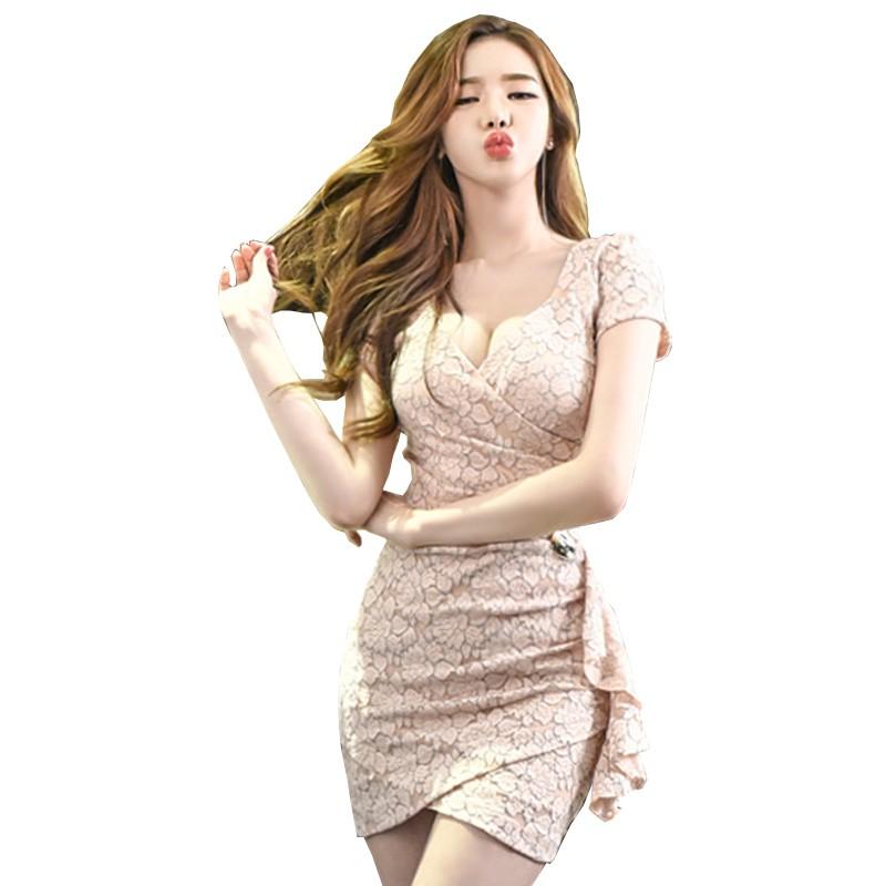 GUYU古瑜 女生蕾絲洋裝短版宴會小禮服現貨 S-XL