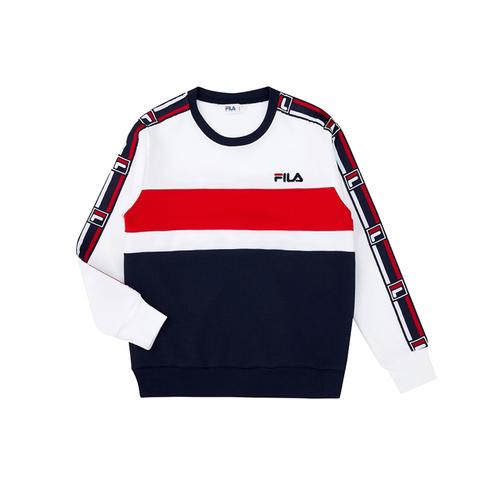 FILA #NEWTRO MANIA KIDS長袖上衣-白色 1TEV-4400-WT