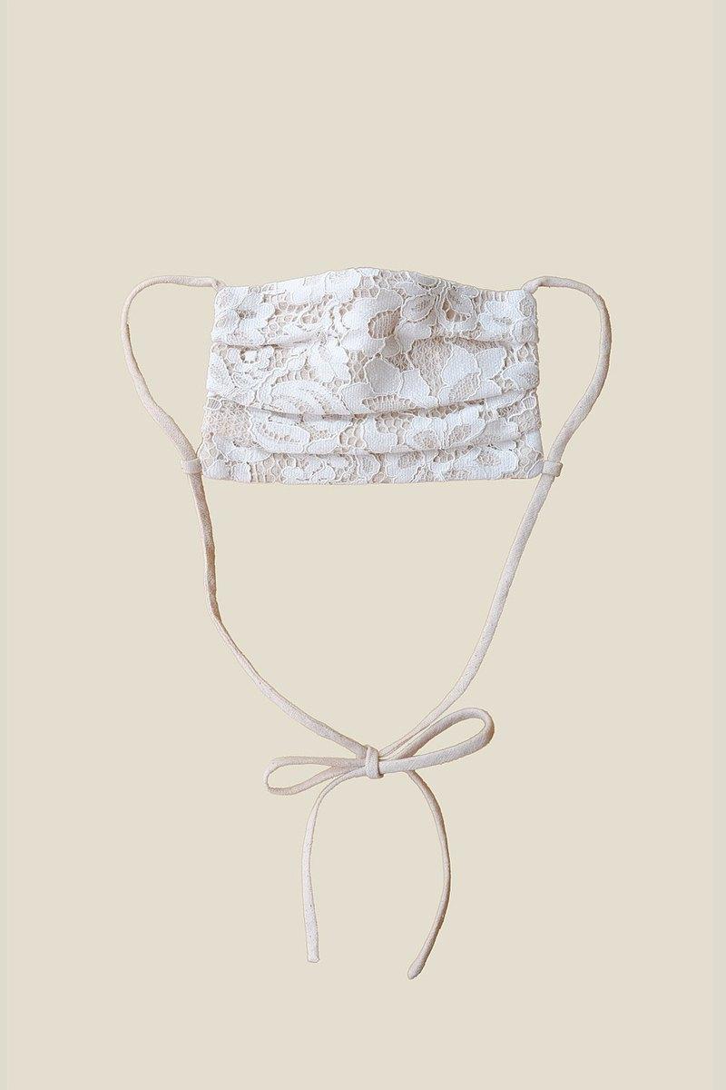 蕾絲和亞麻麵膜/新娘面膜/帶扣可重複使用面膜