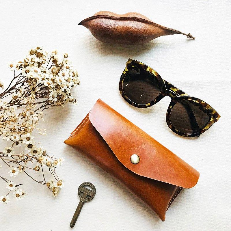 職人手縫簡約皮革 窗花 眼鏡盒