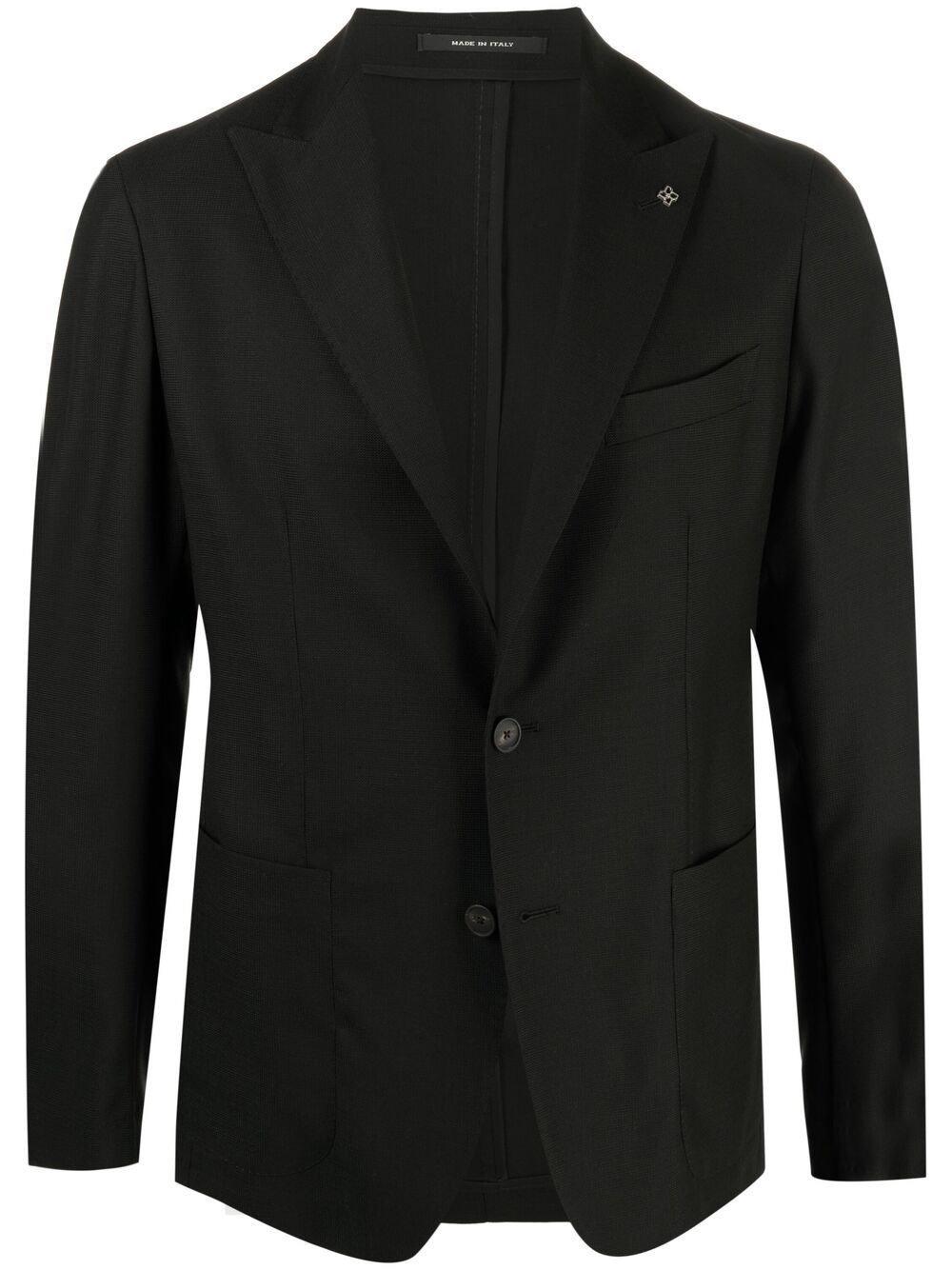 Black Single Breasted Wool Jacket