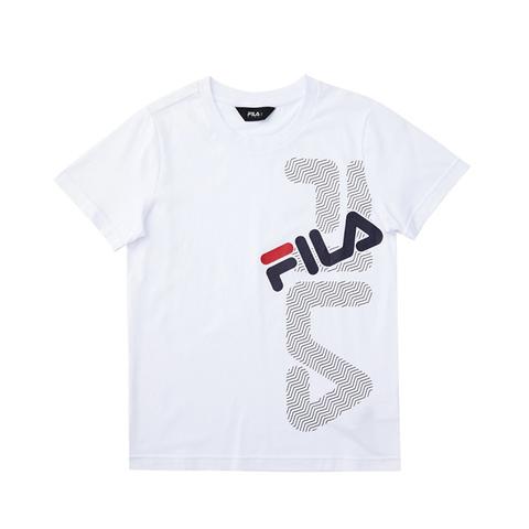 FILA KIDS 圓領上衣-白 1TEV-4900-WT