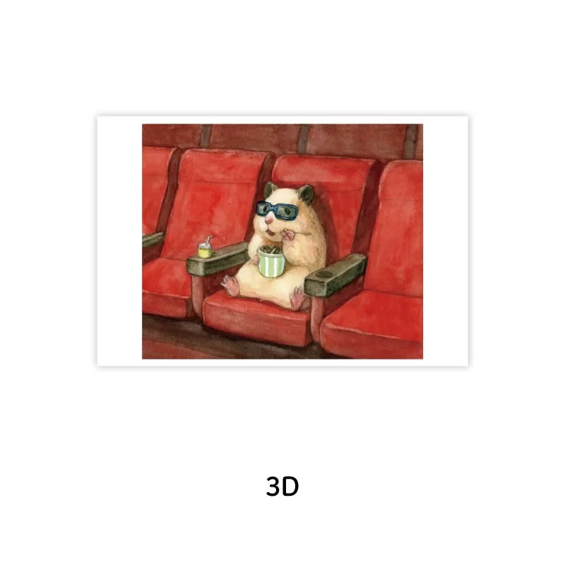 《助六の日常》明信片-3D