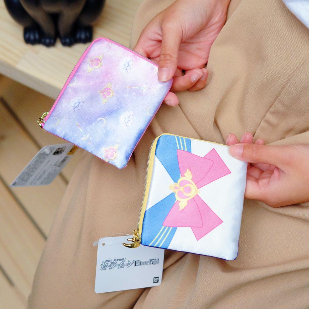 《Sailor Moon》日本商品 水手服緞面L型拉鍊小包 收納包 美少女戰士 25週年限定 劇場版Eternal