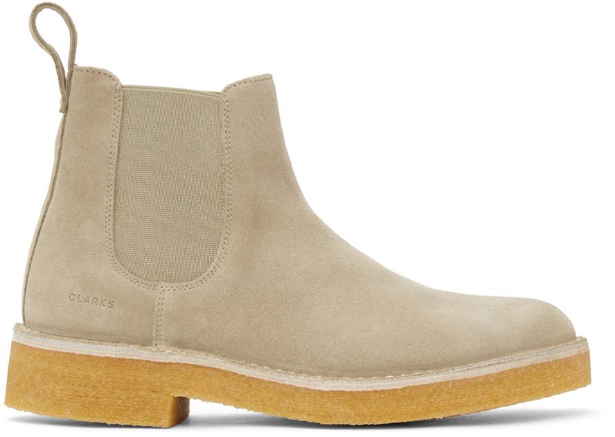 Clarks Originals 驼色 Desert 2 切尔西靴