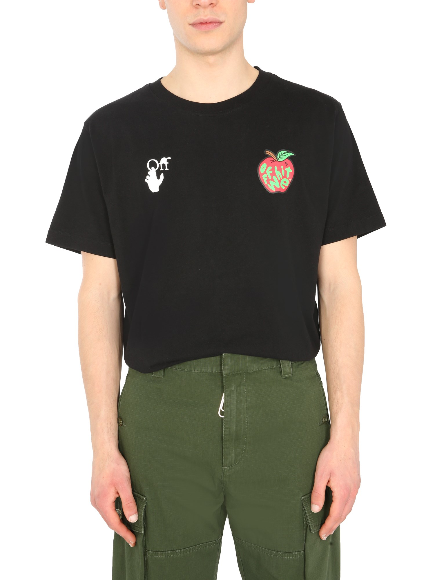 """off-white """"apple"""" printed t-shirt"""