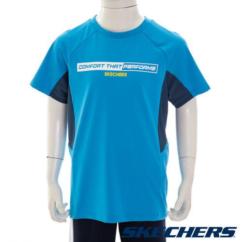 SKECHERS 男童短袖衣-L221B085-00K5