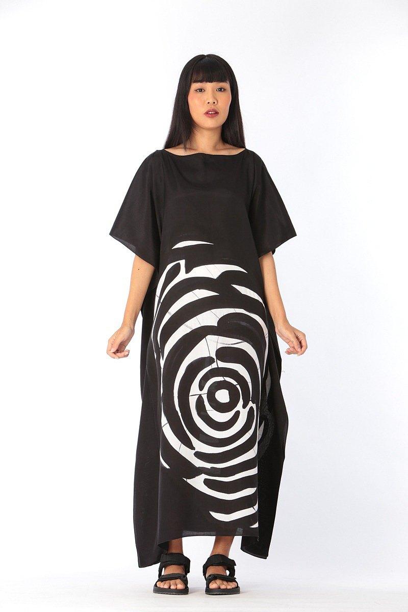 提取純棉真絲卡夫坦衫免費尺寸。