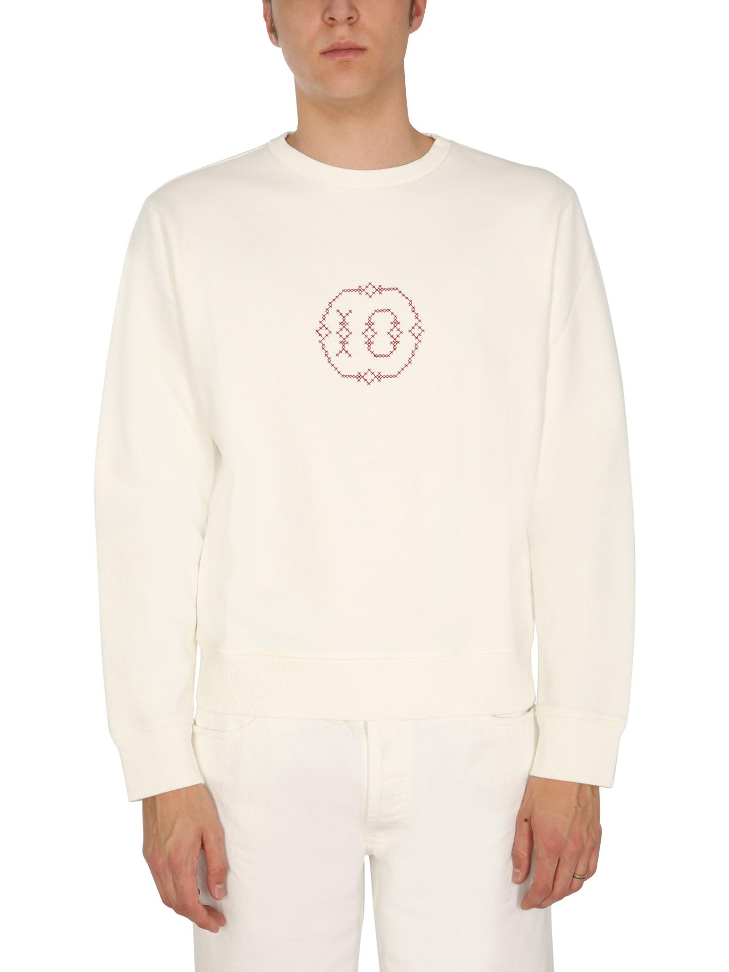 maison margiela embroidered sweatshirt