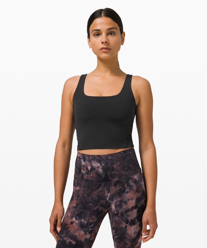 Lululemon Women's Nulu™ Fold Tight Crop Tank, Black Size 10