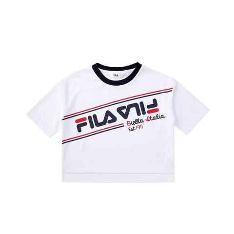 FILA KIDS 吸排上衣-白色 5TEV-4437-WT