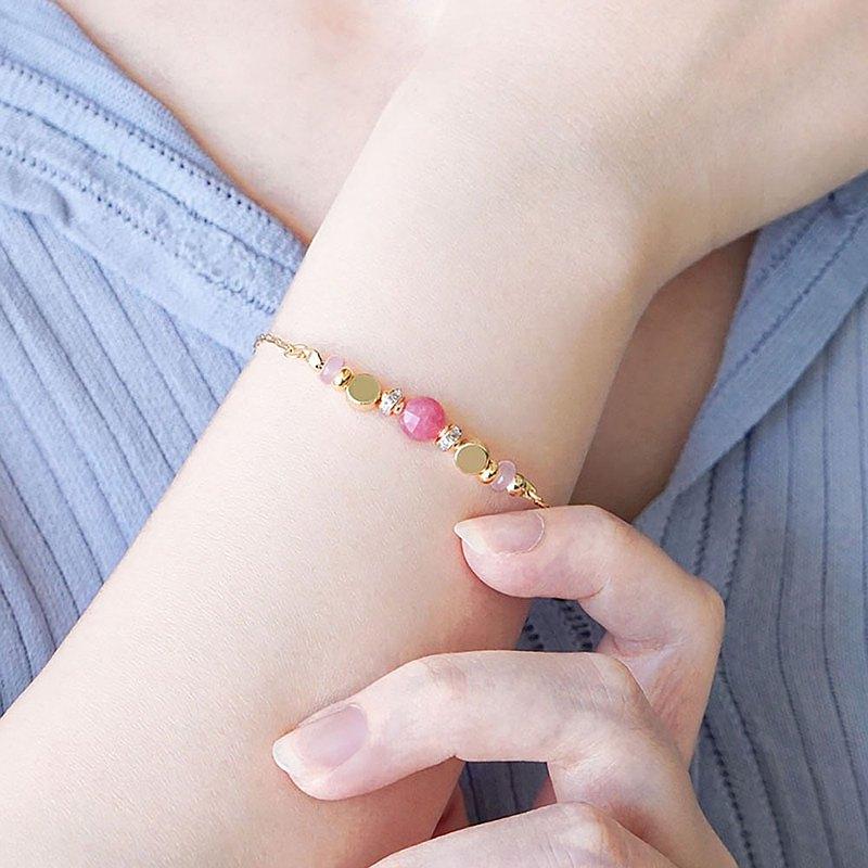 【Ficelle妃紗輕珠寶】星軌共舞 – 紅紋石 – 手鍊