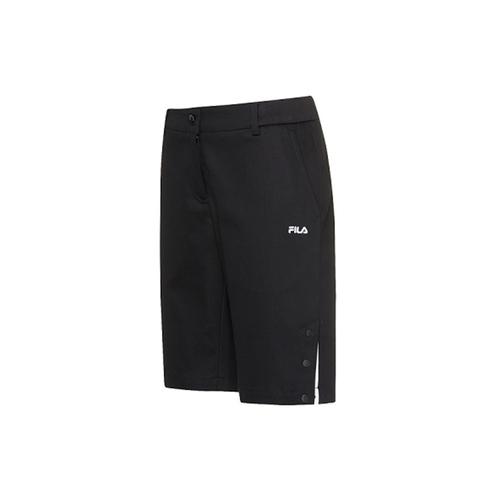 FILA 女平織短褲-黑色 5SHV-1488-BK