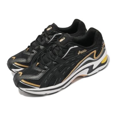 Asics 休閒鞋 Gel-Preleus 運動休閒 男鞋 亞瑟士 變形蟲 緩震 透氣 亞瑟膠 黑 白 1201A084001