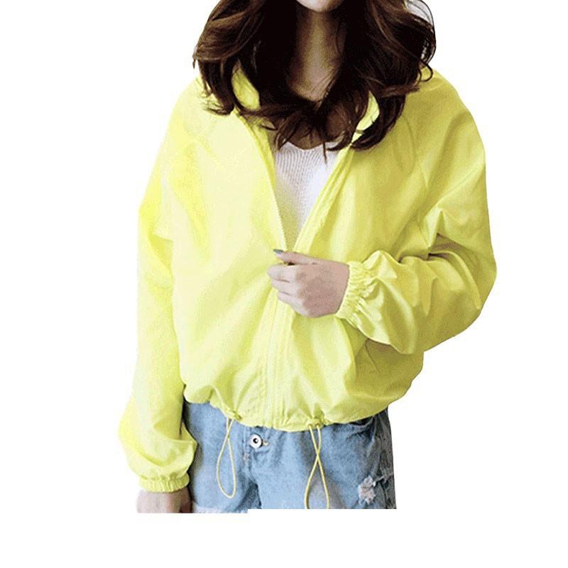 韓版連帽糖果色寬鬆外套 防曬衣 薄外套 運動外套 長袖上衣 衣服 女裝