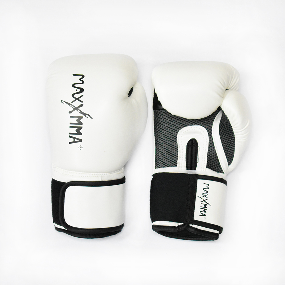MaxxMMA 戰鬥款拳擊手套-白-散打/搏擊/MMA/格鬥/拳擊