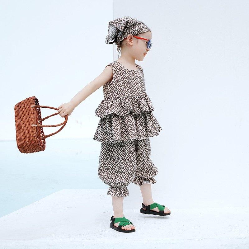 小碎花無袖上衣與燈籠褲 童裝 - imakokoni kids