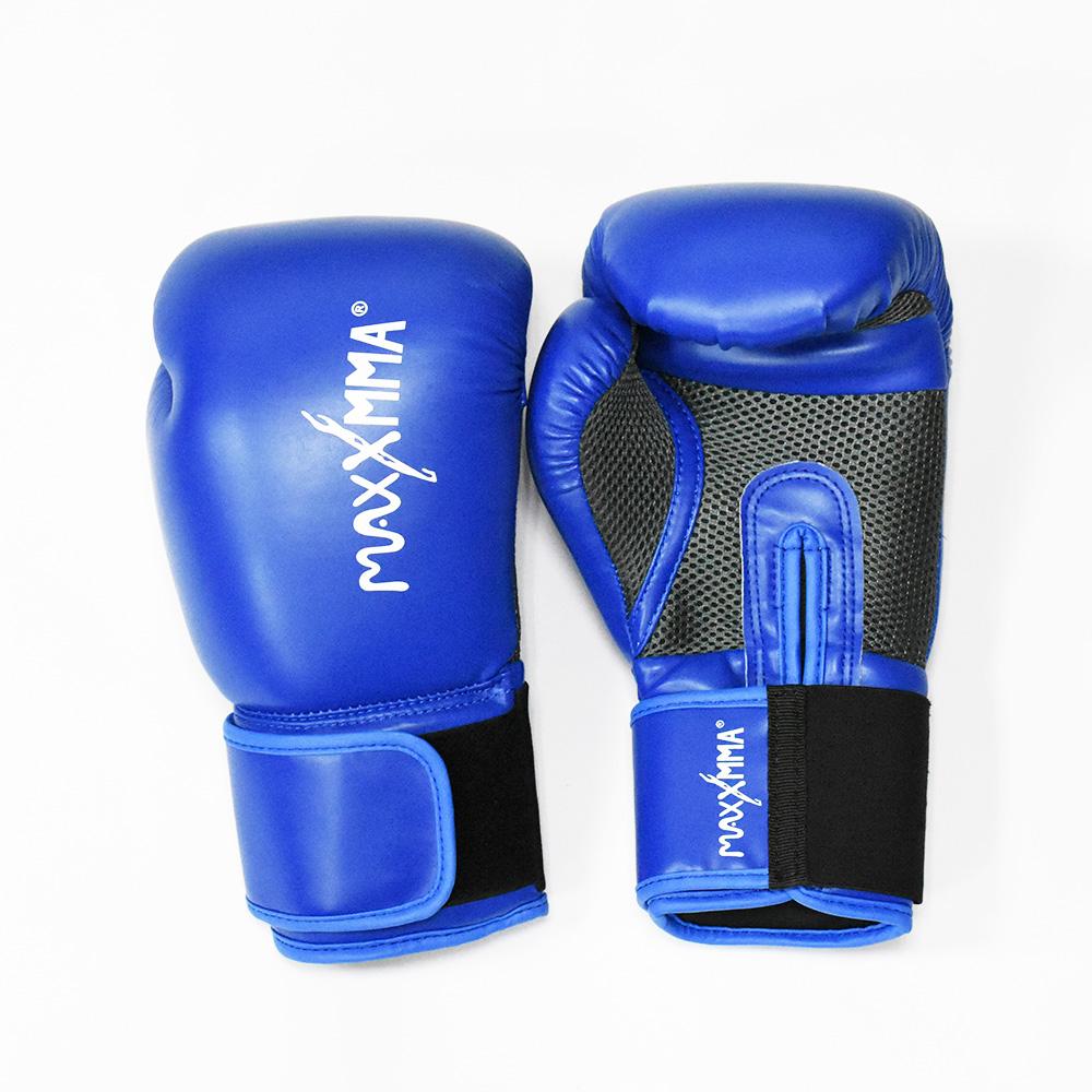 MaxxMMA 戰鬥款拳擊手套-藍-散打/搏擊/MMA/格鬥/拳擊
