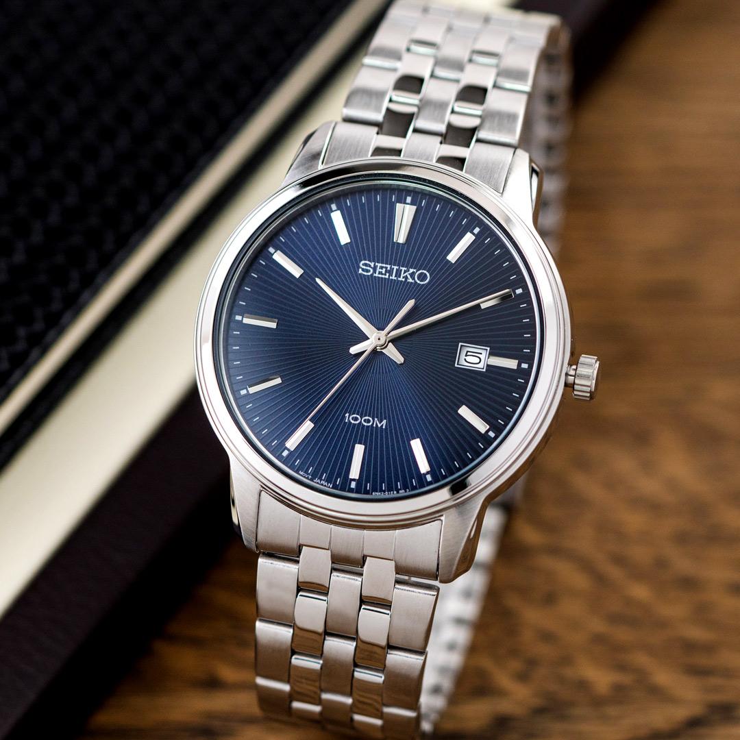 【領券再折2%+滿額贈】SEIKO 精工錶 海洋之心大三針不鏽鋼腕錶/銀x藍面 男錶 SUR259P1_M 世界第一日本精工 熱賣中!