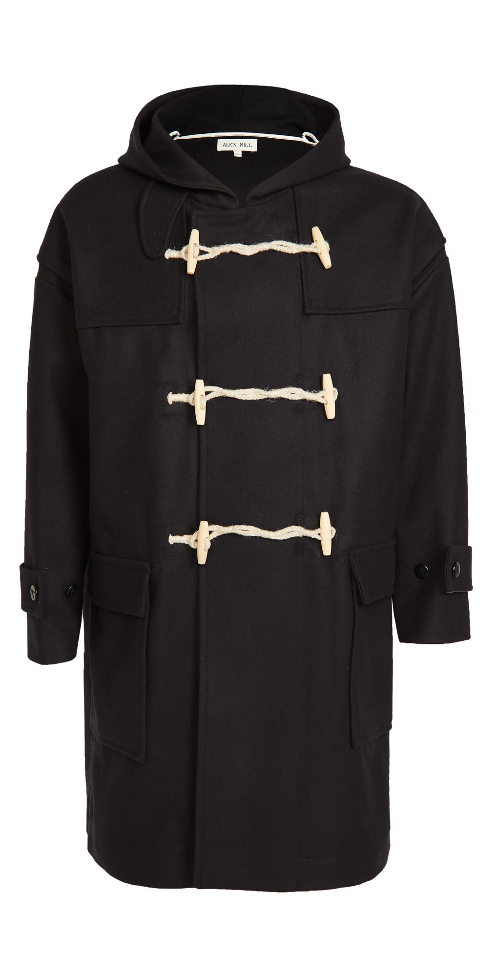 Alex Mill Italian Melton Wool Duffle Coat