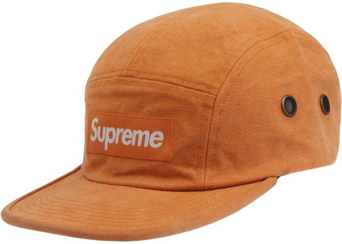 Supreme Washed Canvas Camp Cap 水洗帆布露營帽 橘色