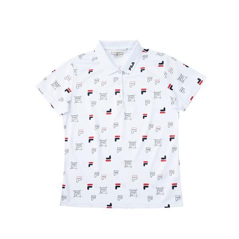 FILA POLO衫-滿版白色 5POV-1457-WT