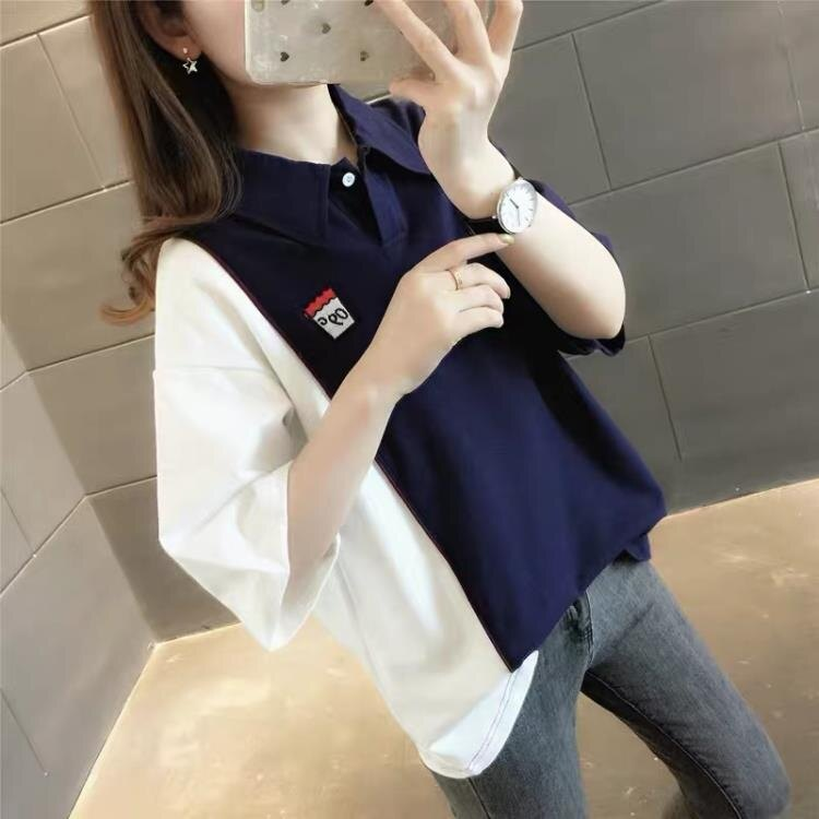 韓版寬鬆女士短袖T恤女裝2021年新款夏裝春裝春款春季上衣服ins潮
